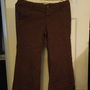 Brown boot leg pants